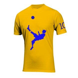 Zlatan Ibrahimovic Bicycle Kick Goal T-Shirt (Yellow)