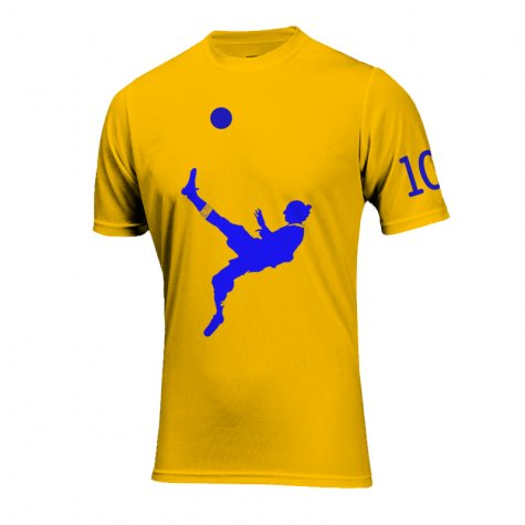 Zlatan Ibrahimovic Bicycle Kick Goal T-Shirt (Yellow)