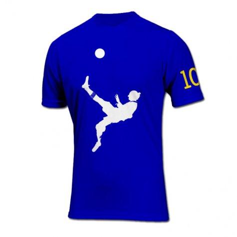Zlatan Ibrahimovic Bicycle Kick Goal T-Shirt (Blue)