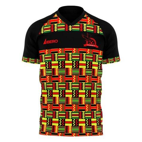 Zambia 2021-2022 Home Concept Football Kit (Libero) - Kids