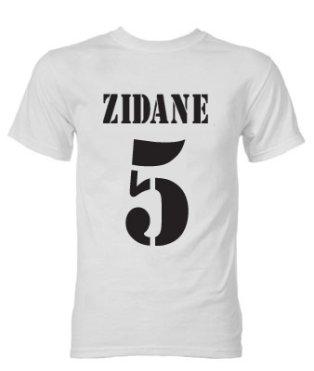 Zinedine Zidane Real Madrid Galactico T-Shirt (White)