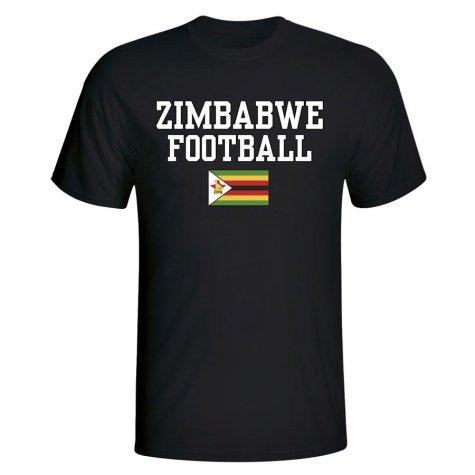 Zimbabwe Football T-Shirt - Black