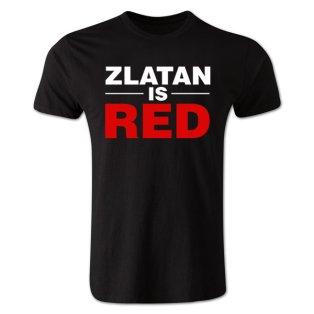 Zlatan Ibrahimovic Zlatan is Red T-shirt (black)