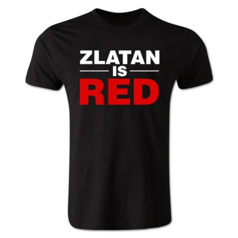 Zlatan Ibrahimovic Zlatan is Red T-shirt (black) - Kids