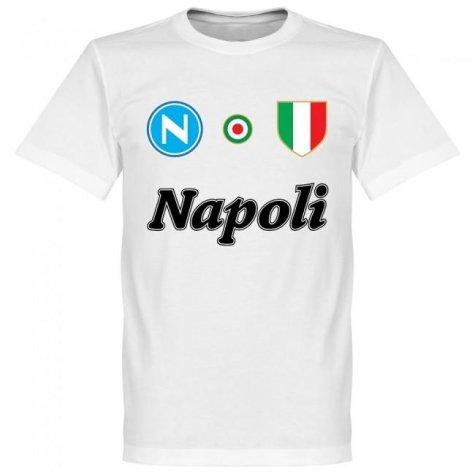 Napoli Maradona 10 Team T-Shirt - White