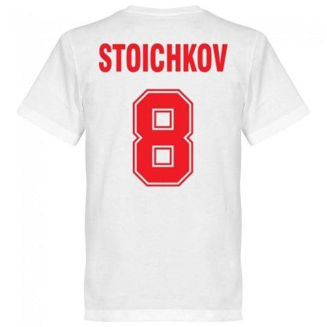 Bulgaria Stoichkov No.8 Team T-shirt - White