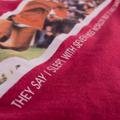 George Best Miss World V-Neck T-Shirt (Red)