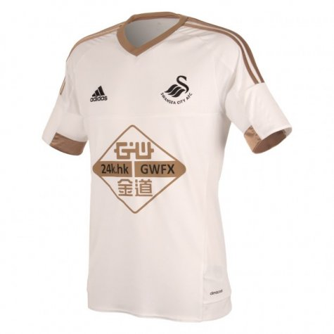2015-2016 Swansea City Adidas Home Football Shirt (Kids)