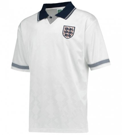 Score Draw England World Cup 1990 Home Shirt (Sheringham 10)