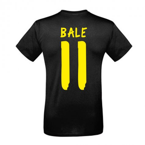 Gareth Bale Real Madrid Incredibale T-Shirt (Black) - with number