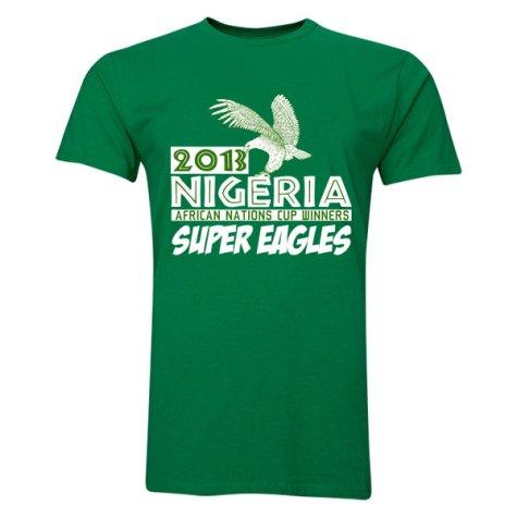 2013 Nigeria CAF Winners T-Shirt (Green) - Emenike 9