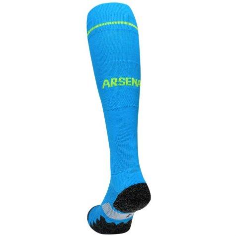 2016-2017 Arsenal Away Goalkeeper Socks (Blue) - Kids