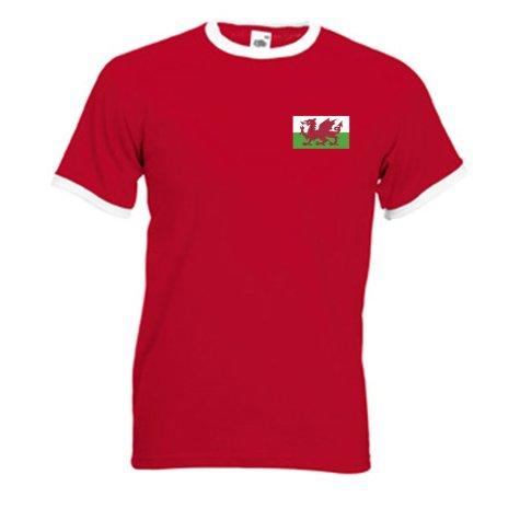 Gareth Bale Wales Ringer Tee (red)