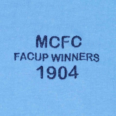 Manchester City 1904 FA Cup Winners Retro Football Shirt