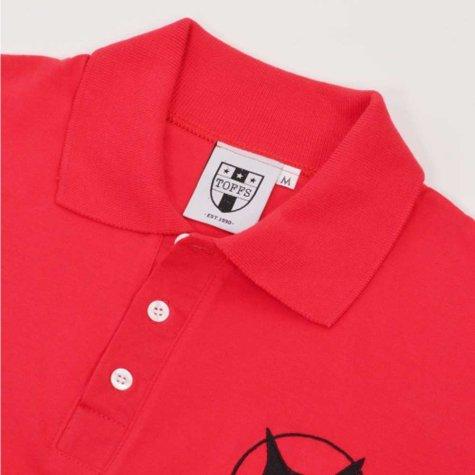 Sunderland Number 73 Retro Red Polo Shirt