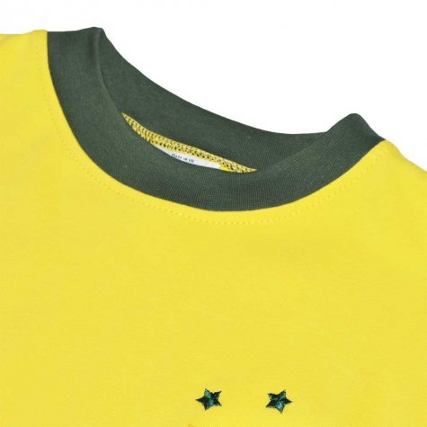 Brazil 1972 Three Times Champions Retro Football Shirt