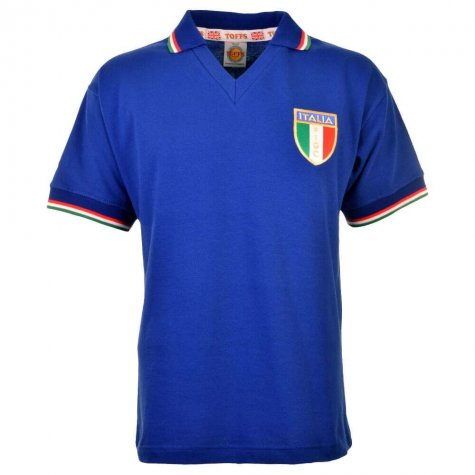 Italy 1982 World Cup Winners Rossi 20 Retro Football Shirt
