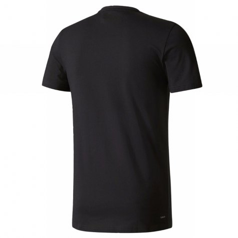 2017-2018 Real Madrid Adidas Training Tee (Black) - Kids