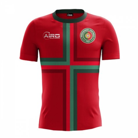 2018-2019 Portugal Airo Concept Home Shirt (Eusebio 13) - Kids