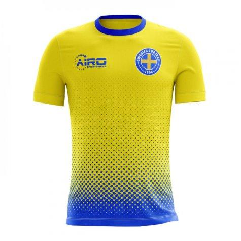 2018-2019 Sweden Airo Concept Home Shirt (Lustig 2)