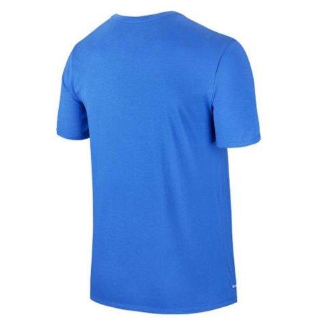 2017-2018 Barcelona Nike Core Crest T-Shirt (Blue)