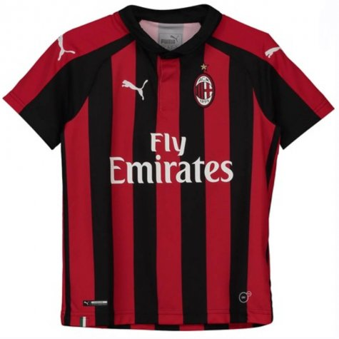 2018-2019 AC Milan Puma Home Football Shirt (Borini 11) - Kids
