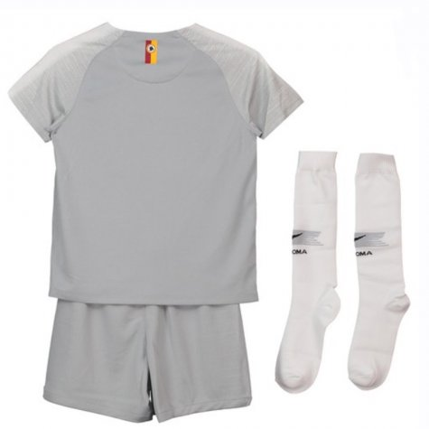 2018-2019 AS Roma Home Nike Little Boys Mini Kit (Florenzi 24)