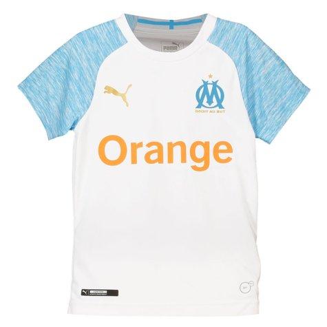 2018-2019 Olympique Marseille Home Little Boys Mini Kit