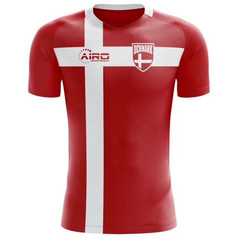 2018-2019 Denmark Flag Concept Football Shirt (M Laudrup 10)