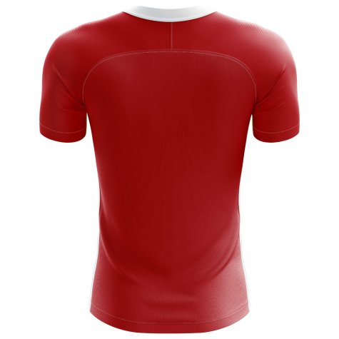 2018-2019 Denmark Flag Concept Football Shirt (Jorgensen 9) - Kids