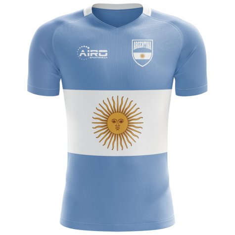 2018-2019 Argentina Flag Concept Football Shirt (Di Maria 11) - Kids