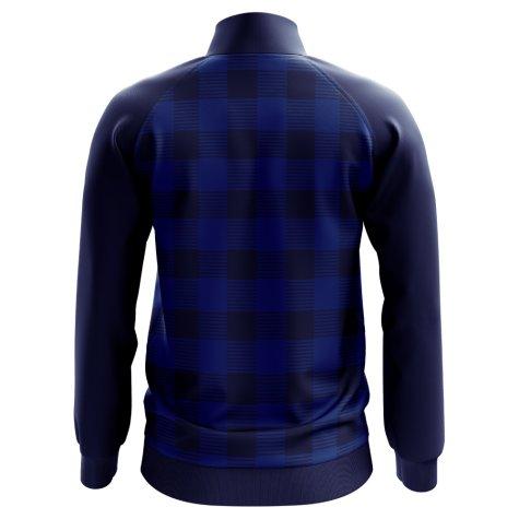 Scotland Tartan Concept Football Track Jacket (Navy)