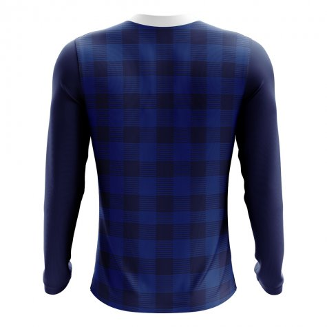 2018-2019 Scotland Long Sleeve Tartan Concept Football Shirt