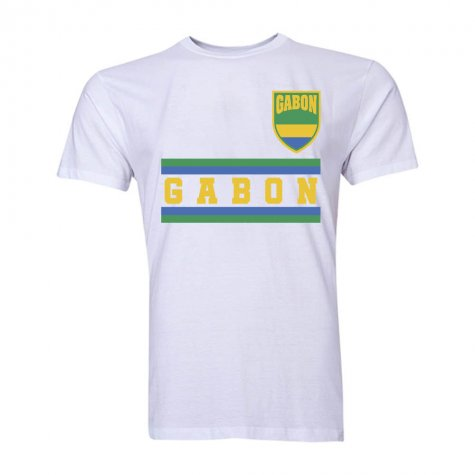 Gabon Core Football Country T-Shirt (White) (Ecuele Manga 5)