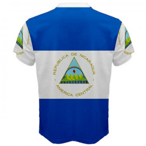 Nicaragua Flag Sublimated Sports Jersey