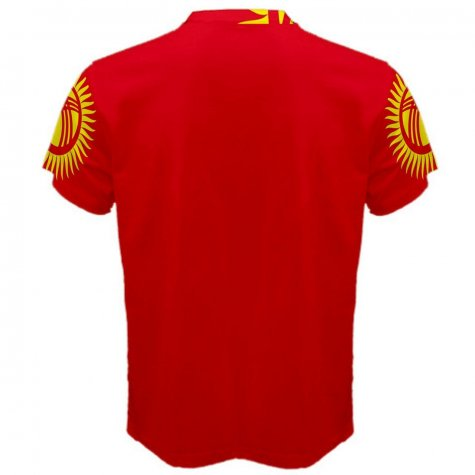 Kyrgyzstan Flag Sublimated Sports Jersey - Kids