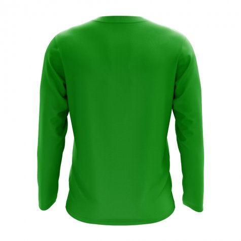 Hungary Core Football Country Long Sleeve T-Shirt (Green)