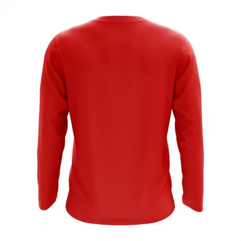 Madagascar Core Football Country Long Sleeve T-Shirt (Red)