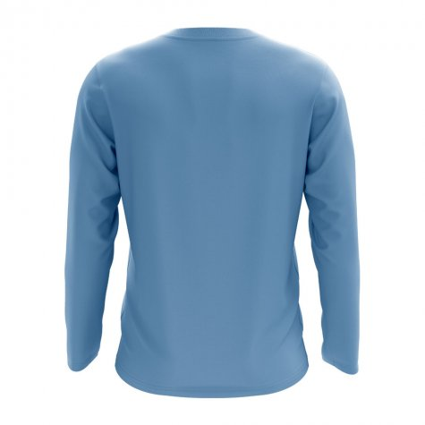 Rwanda Core Football Country Long Sleeve T-Shirt (Sky)