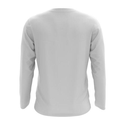 Bangladesh Core Football Country Long Sleeve T-Shirt (White)