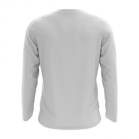 Guam Core Football Country Long Sleeve T-Shirt (White)