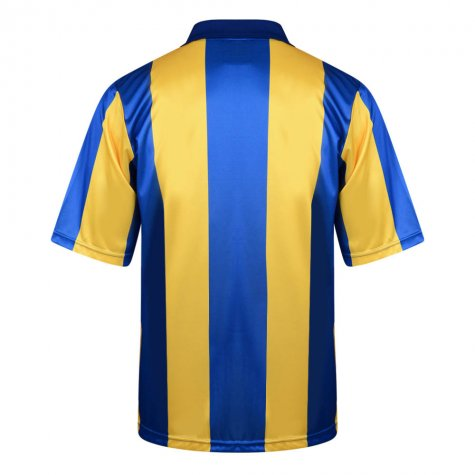 Score Draw Leeds United 1994 Away Retro Football Shirt