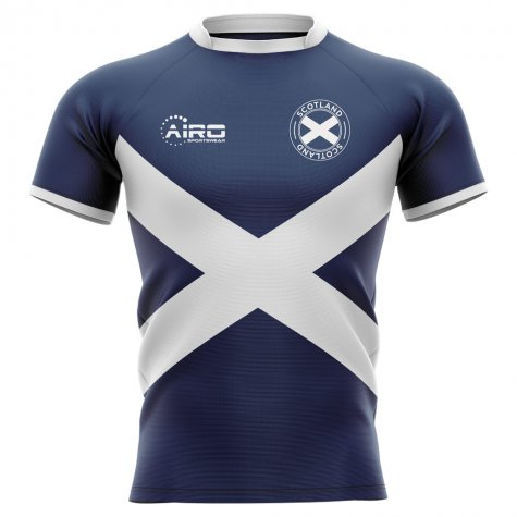 2020-2021 Scotland Flag Concept Rugby Shirt (Your Name)