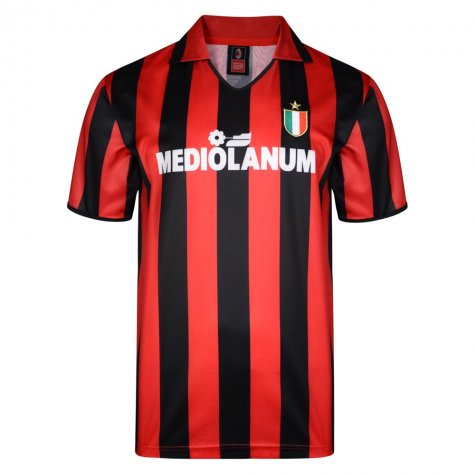 Score Draw Ac Milan 1988 Retro Football Shirt (RIVERA 10)
