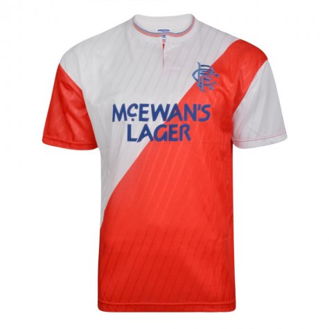 Score Draw Rangers 1988 Away Retro Football Shirt (COOPER 11)