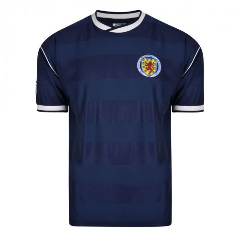 Score Draw Scotland 1986 Retro Football Shirt (McAvennie 16)