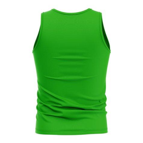 Turkmenistan Core Football Country Sleeveless Tee (Green)