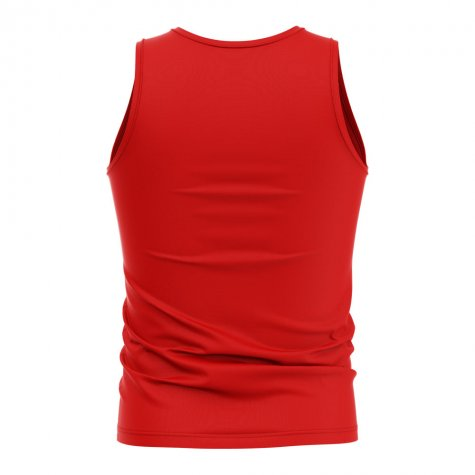 Mauritius Core Football Country Sleeveless Tee (Red)