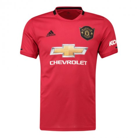 2019-2020 Man Utd Adidas Home Football Shirt (POGBA 6)