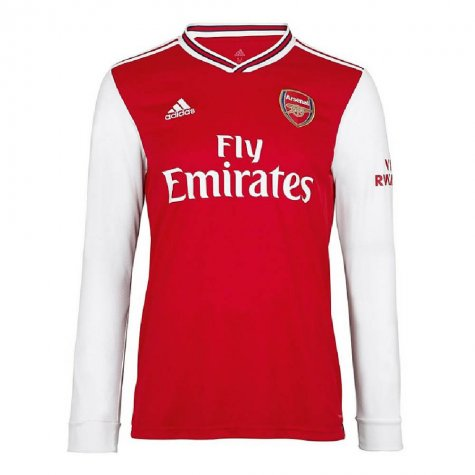 2019-2020 Arsenal Adidas Home Long Sleeve Shirt (Kids) (MONREAL 18)